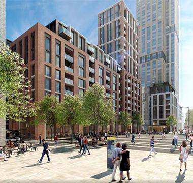 皇后广场:36万镑起 伦敦第三个CBD里的宜居住宅